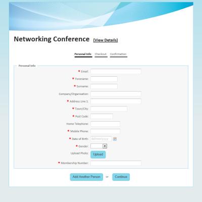 Sample Online Registration Forms